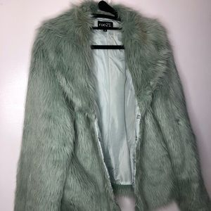 Mint Green Winter Faux Fur